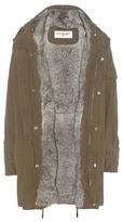 Saint Laurent Fur-lined Cotton Parka