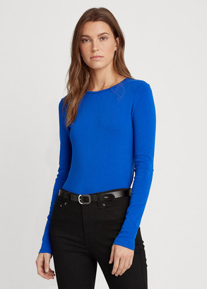 Ralph Lauren Cotton-Blend Long-Sleeve Top