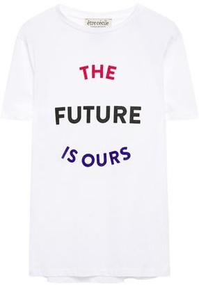 Être Cécile Printed Cotton-jersey T-shirt
