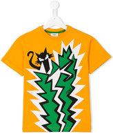 Fendi cat print T-shirt - kids - Cotton/Spandex/Elastane - 3 yrs