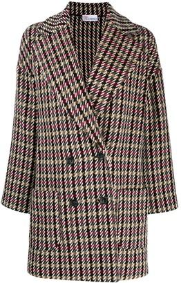 RED Valentino Mixed Check Coat