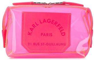 Karl Lagerfeld Paris K/Journey transparent washbag