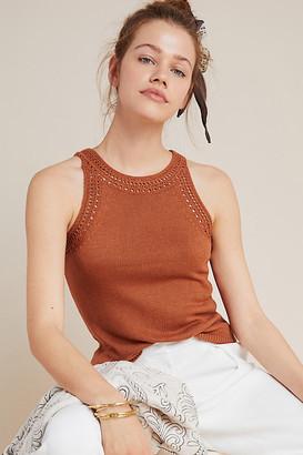 Letizia Crochet Sweater Tank By Little Lies in Brown Size XS