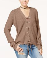 Polly and Esther Juniors' Lace-Up Cardigan