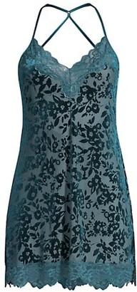 In Bloom Burnout Velvet Slip Dress