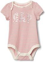 Embellished logo stripe bodysuit