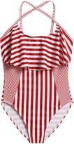 Arshiner Girls One Piece Swimwear Ruffle Swimsuit