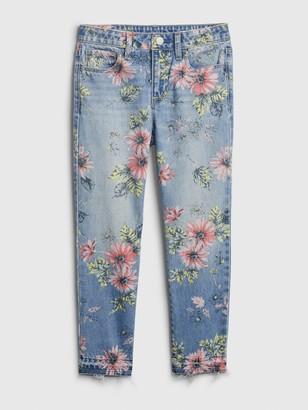 Gap Kids Floral Girlfriend Jeans