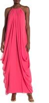 Trina Turk Blue Lagoon Silk Maxi Dress