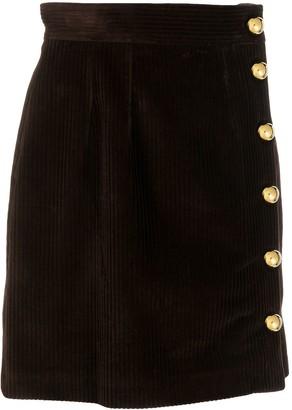 Dolce & Gabbana Buttoned Corduroy Skirt