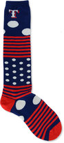 For Bare Feet Texas Rangers Dots and Stripes 538 Socks