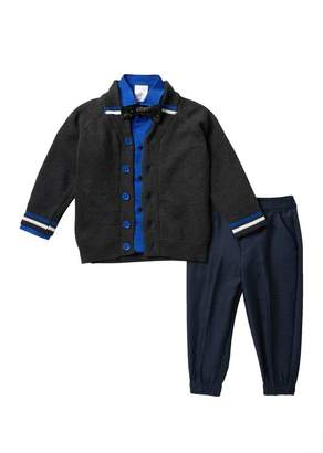 Calvin Klein Shawl Collar Sweater 4-Piece Set (Toddler & Little Boys)
