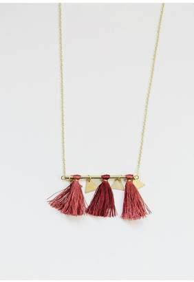 Mata Traders Tassel Bar Necklace