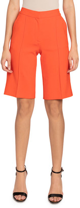 Victoria Victoria Beckham Tailored Pintucked Bermuda Shorts