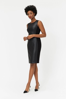 Coast PU & Ponte Panelled Dress