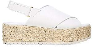 Vince Women's Jesson Platform Espadrille Leather Slingback Sandals