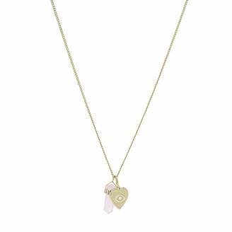 Fossil Power of Crystals Rose Quartz Pendant Necklace