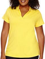 ST. JOHN'S BAY St. John's Bay Short-Sleeve Polo Shirt - Plus