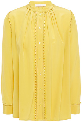 Vanessa Bruno Loucia Embellished Silk Crepe De Chine Blouse