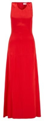 HUGO BOSS Long-length silk dress with strappy open back