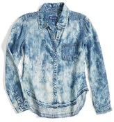 Tractr Girl's Beach Splatter Chambray Shirt