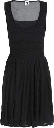 M Missoni Two-tone Crochet-knit Mini Dress