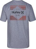Hurley Men's Tri Bar Logo-Print T-Shirt