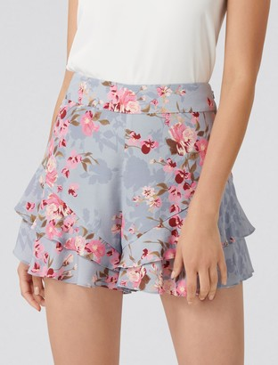 Ever New Debbi Double Ruffle Printed Shorts