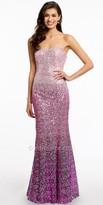 Camille La Vie Strapless Ombre Sequin Prom Dress