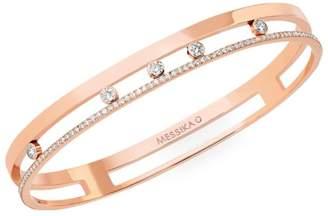 Messika Move Romane Diamond & 18K Rose Gold Medium Bangle