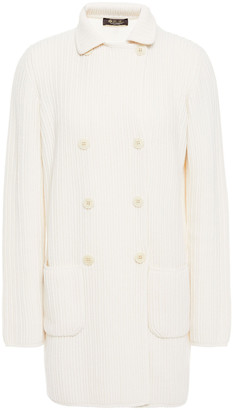 Loro Piana Double-breasted Ribbed Cashmere Cardigan