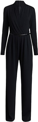 Max Mara Marusca Belted Wrap Jumpsuit