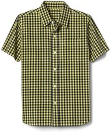 Gap Gingham short sleeve poplin shirt