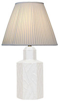 One Kings Lane Vintage Faux-Bamboo Tea Canister Table Lamp - Janney's Collection - white/bronze/cream