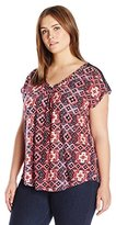 Lucky Brand Women's Plus Size Inset Lace Top