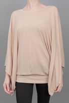 Mark and Estel Scoop Wing Top Blush