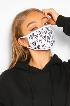 boohoo Heart Fashion Face Mask
