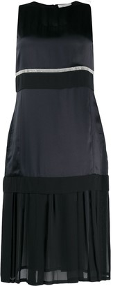 3.1 Phillip Lim Sheer Panel Knee-Length Dress