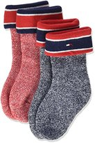 Tommy Hilfiger Baby TH Mouline 2P Calf Socks,pack of 2