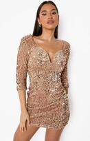 Boohoo Rosie Sequin Bodycon Dress