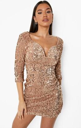 boohoo Sequin Bodycon Dress