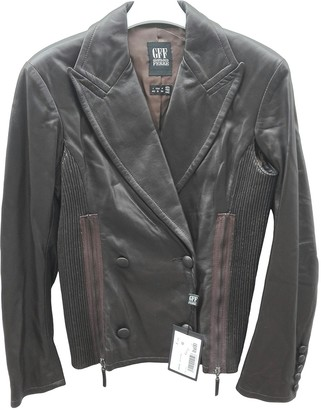 Gianfranco Ferre Brown Leather Leather Jacket for Women