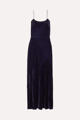 Jason Wu Open-back Velvet Maxi Dress - Blue