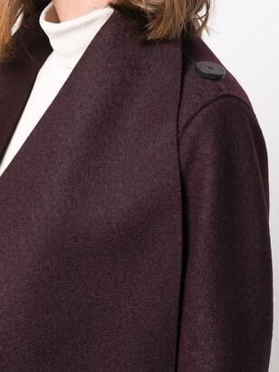 Harris Wharf London Long Belted Wool Coat