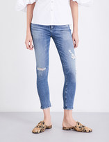 A Gold E AGOLDE Sophie distressed skinny cropped high-rise jeans