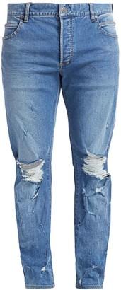 Balmain Distressed Side Tape Jeans