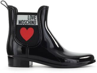 Love Moschino Black Rubber Chelsea Boot