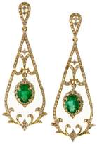 Effy Jewelry Effy Brasilica 14K Yellow Gold Emerald & Diamond Earrings, 1.78 TCW