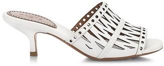 Azzedine Alaia Cutout Leather Mules