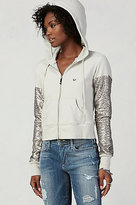 True Religion Cropped Sequin Hoodie